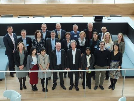 De vertegenwoordigers van de GWRC bij KWR.