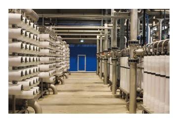 DPW (demiwaterproductie) installatie van Evides in de Botlek, die gebruikmaakt van de AiRO technologie.