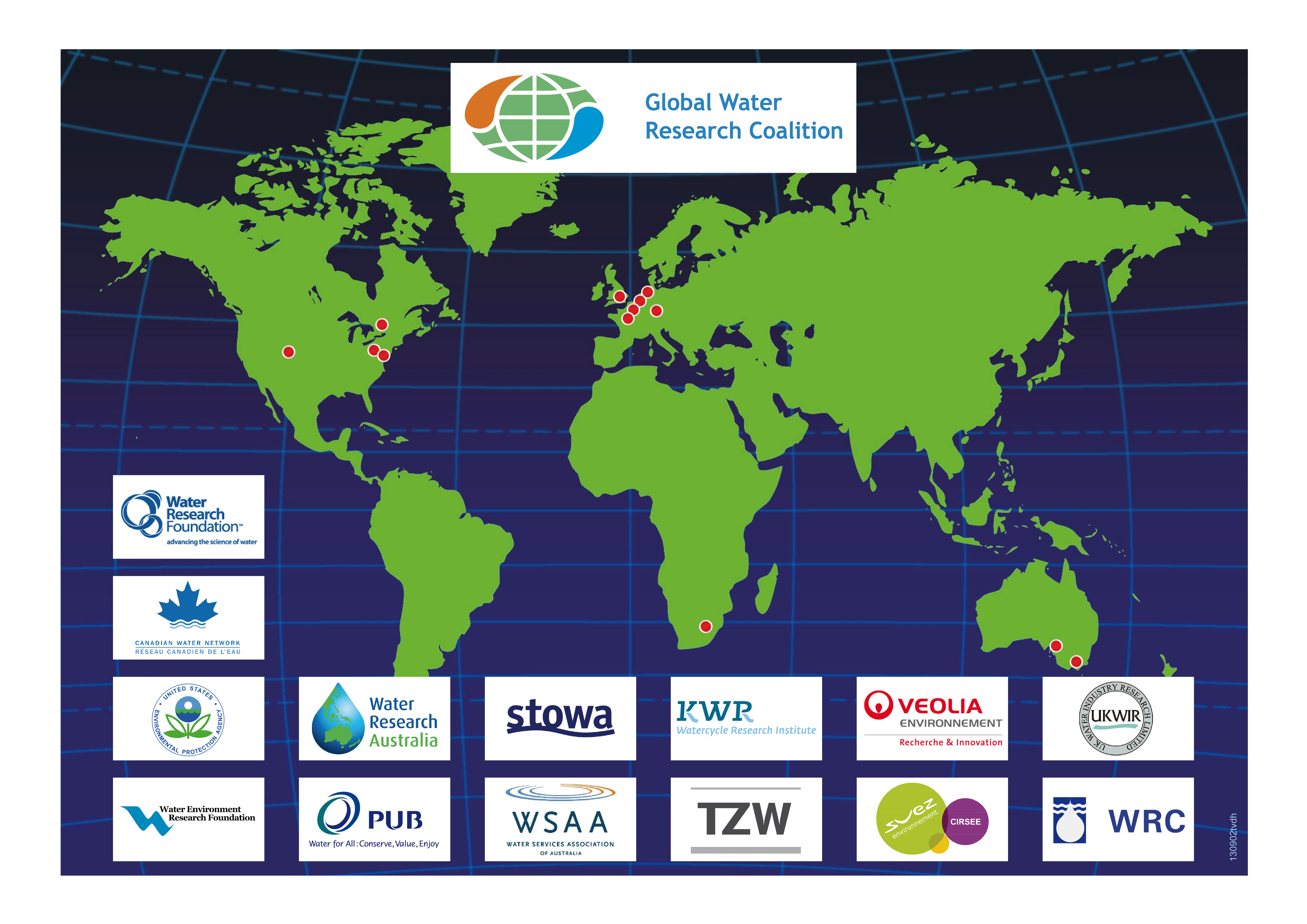Fourteen leading research institutes – including KWR – are members of the GWRC global network.