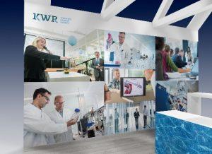 Impressie van de KWR stand (nummer 139)