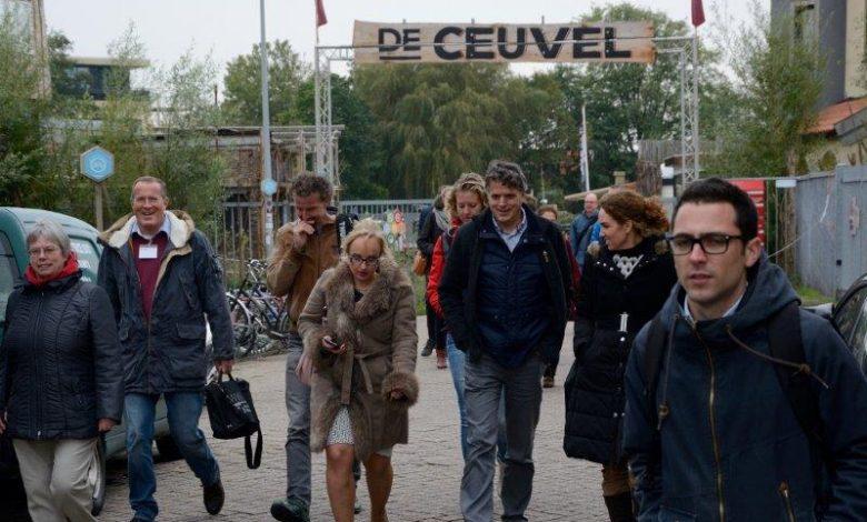 Een bezoek aan Cleantech Playground De Ceuvel was onderdeel van het symposium