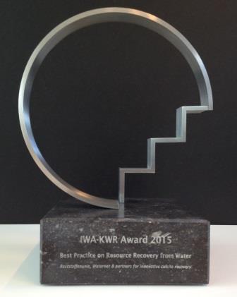 Reststoffenunie, Waternet en partners winnen IWA-KWR Award