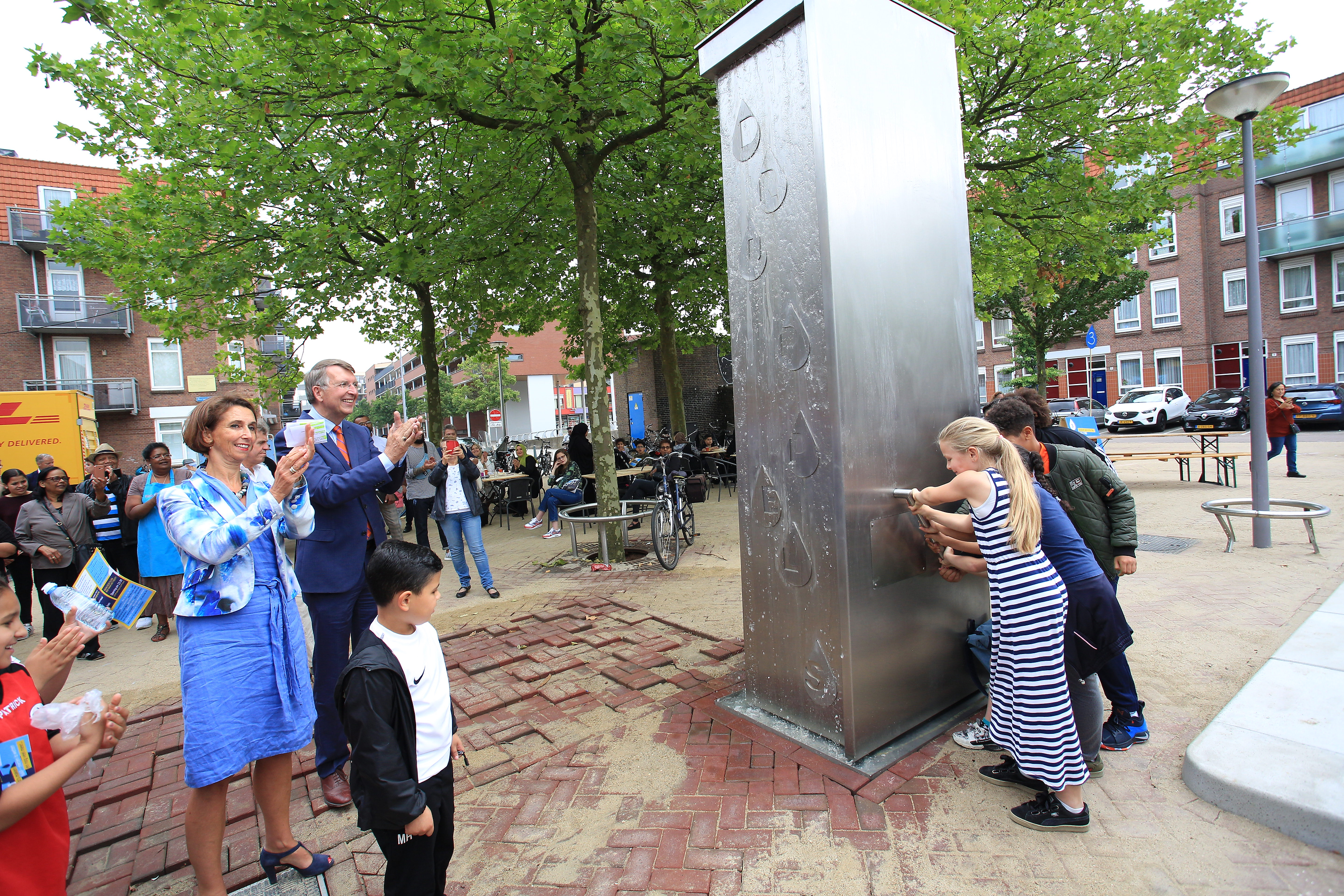 A Cruyff Court with a subsurface waterbuffer was opened today on the  Spartaplein square in Rotterdam. The event was held in tandem with a big  neighbourhood ...