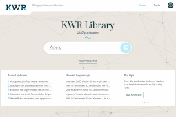 Over 2300 publications available online at KWR