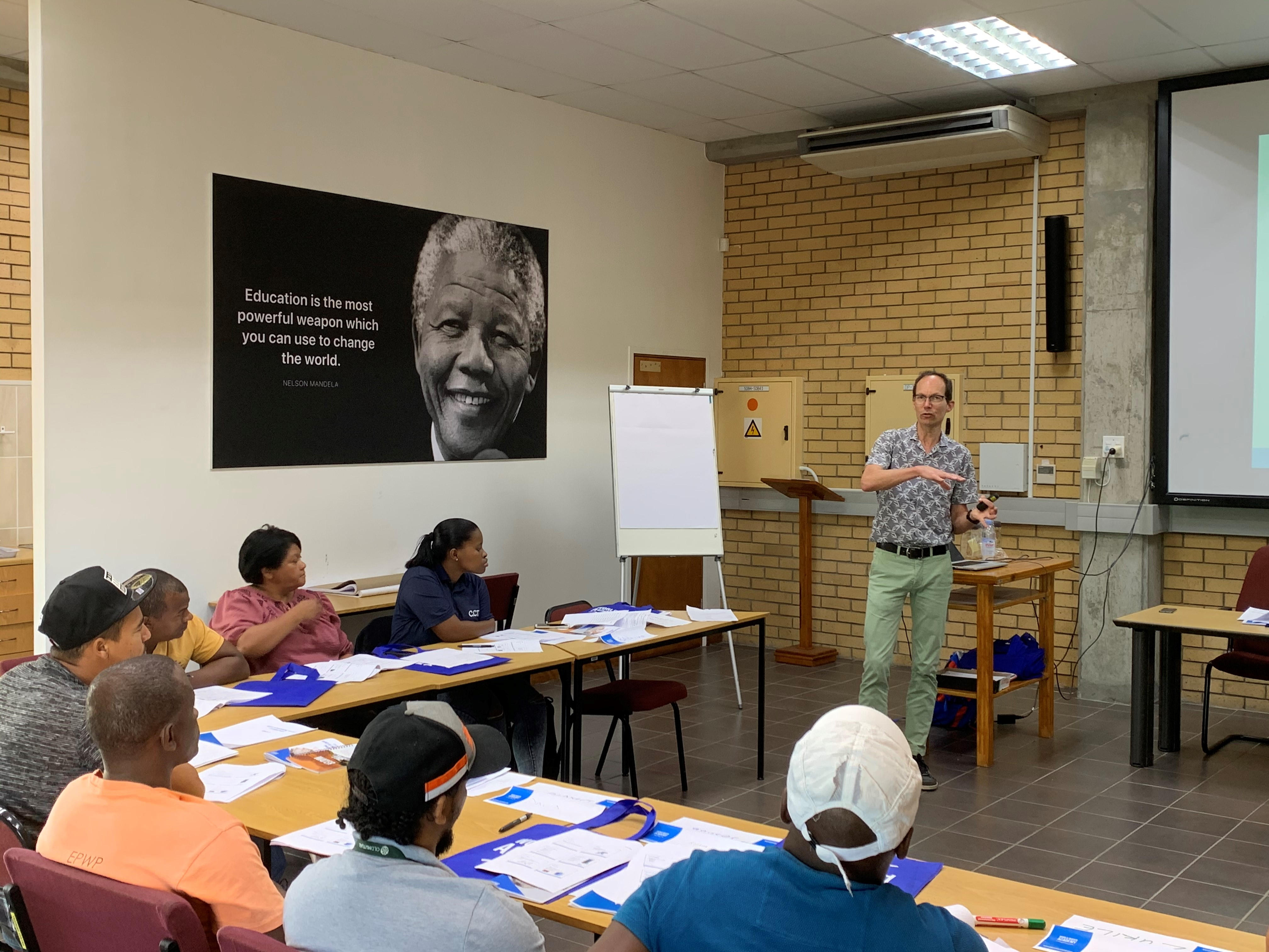 KWA Waterspecialist Ron Jong KWA giving training for South African drinking water treatments