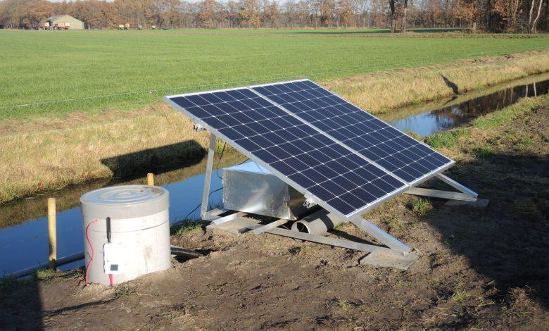 Systeem voor subirrigatie met oppervlaktewater, Stegeren (foto: Bas Worm, Waterschap Vechtstromen)