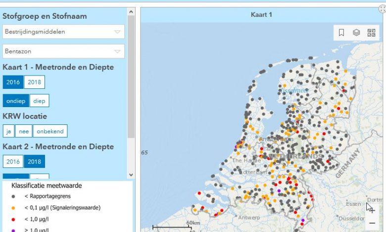 Interactieve kaart brengt grondwaterkwaliteit in beeld