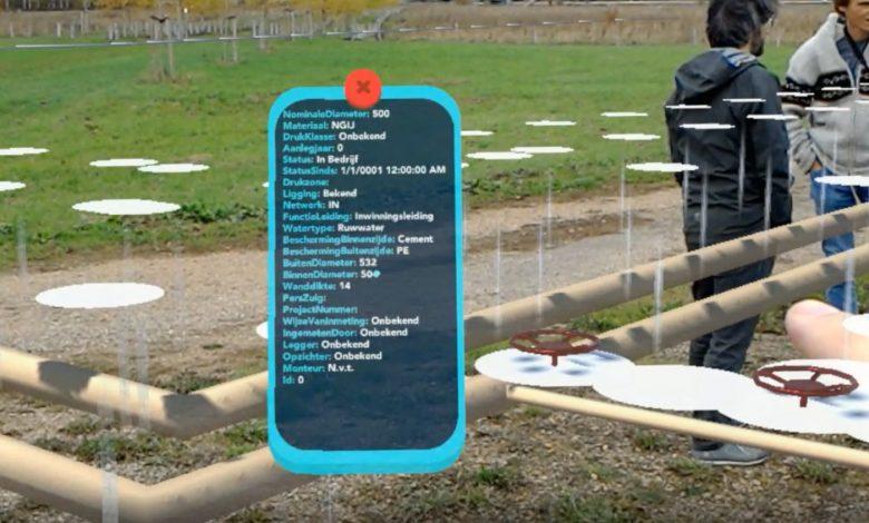 Projectie van leidingen en attribuutdata via de 'hololens' (WML)