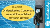 KWR tekent het Convenant waterstof in mobiliteit provincie Utrecht